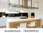 sophisticated kitchen with a... | Shutterstock . vector #764244922