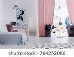 sophisticated fashion designer... | Shutterstock . vector #764252086