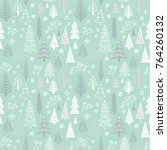 seamless pattern for winter ... | Shutterstock .eps vector #764260132