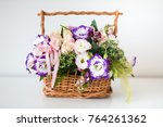 wooden box with bunch of... | Shutterstock . vector #764261362