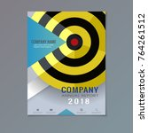 company annual report with... | Shutterstock .eps vector #764261512
