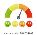 customer satisfaction meter... | Shutterstock .eps vector #764263462