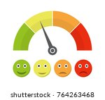 customer satisfaction meter... | Shutterstock .eps vector #764263468