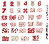 christmas even calendar | Shutterstock .eps vector #764263618