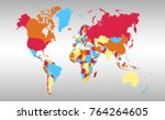 color world map vector | Shutterstock .eps vector #764264605