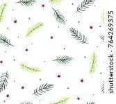 watercolor seamless christmas... | Shutterstock . vector #764269375