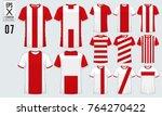 t shirt sport design for soccer ... | Shutterstock .eps vector #764270422