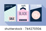 three vertical black friday... | Shutterstock .eps vector #764270506