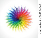 abstract color wheel | Shutterstock .eps vector #764274862