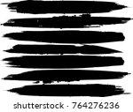 grunge paint stripe . vector... | Shutterstock .eps vector #764276236