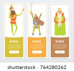 vertical banners set with... | Shutterstock .eps vector #764280262