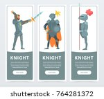 flat vector set of vertical... | Shutterstock .eps vector #764281372