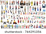 collection of isometric children | Shutterstock .eps vector #764291356