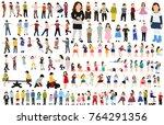 collection of isometric children | Shutterstock vector #764291356