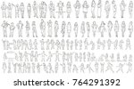 vector  isolated large set of... | Shutterstock .eps vector #764291392