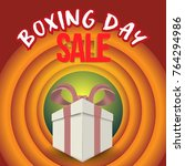 boxing day sale. christmas... | Shutterstock .eps vector #764294986