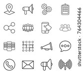 thin line icon set   pointer ...   Shutterstock .eps vector #764304466