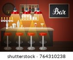 bar counter in pub or night...   Shutterstock .eps vector #764310238