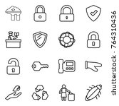 thin line icon set   factory... | Shutterstock .eps vector #764310436