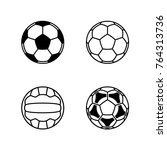 football soccer  volleyball... | Shutterstock .eps vector #764313736