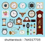 clocks collection. analog old...   Shutterstock .eps vector #764317735