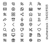user interface icon set vector...