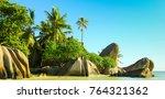 national park anse source d... | Shutterstock . vector #764321362