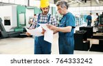 team of engineers having... | Shutterstock . vector #764333242