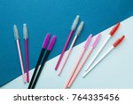 the brush lash  comb  help to... | Shutterstock . vector #764335456
