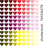 colored vector hearts. love | Shutterstock .eps vector #764336278