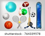 sports equipment  set the ball  ...   Shutterstock .eps vector #764339578