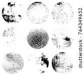 distress circular textures set... | Shutterstock .eps vector #764349652