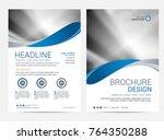 brochure template flyer... | Shutterstock .eps vector #764350288