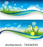 dandelion banner | Shutterstock .eps vector #76436533
