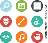 origami corner style icon set   ... | Shutterstock .eps vector #764377765