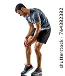 one caucasian man runner jogger ... | Shutterstock . vector #764382382