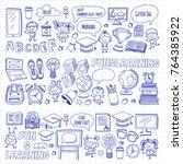 language school kids  chidlren  ... | Shutterstock .eps vector #764385922