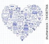 language school kids  chidlren  ... | Shutterstock .eps vector #764387566