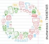 language school kids  chidlren  ...   Shutterstock .eps vector #764387605