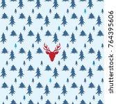 christmas pattern vector... | Shutterstock .eps vector #764395606