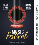 the acoustic music festival. a... | Shutterstock .eps vector #764395948