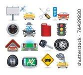 car icon set   Shutterstock .eps vector #76439830