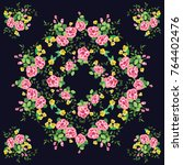 scarf floral print. russian...   Shutterstock .eps vector #764402476