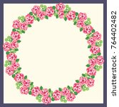 scarf floral print. russian... | Shutterstock .eps vector #764402482