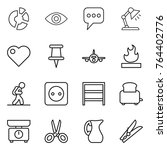 thin line icon set   circle... | Shutterstock .eps vector #764402776