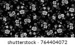 seamless floral pattern in... | Shutterstock .eps vector #764404072