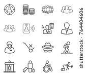 thin line icon set   target... | Shutterstock .eps vector #764404606