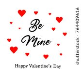 happy valentines day typography ... | Shutterstock .eps vector #764409616