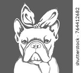french bulldog. vector... | Shutterstock .eps vector #764412682