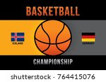 vector of basketball... | Shutterstock .eps vector #764415076